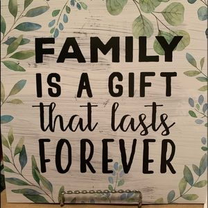 """""""Family is a gift that lasts forever"""" print"""